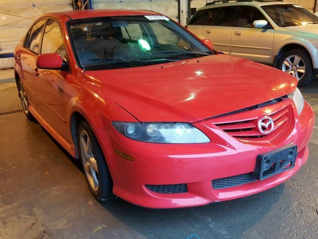 1YVHP84C555M62270 - 2005 MAZDA 6 I RED photo 1