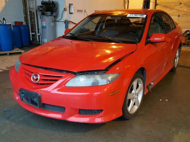 1YVHP84C555M62270 - 2005 MAZDA 6 I RED photo 2