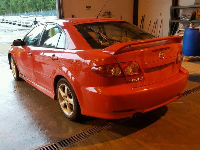 1YVHP84C555M62270 - 2005 MAZDA 6 I RED photo 3