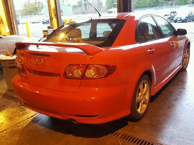 1YVHP84C555M62270 - 2005 MAZDA 6 I RED photo 4