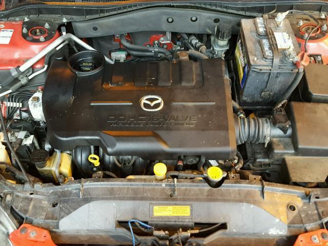 1YVHP84C555M62270 - 2005 MAZDA 6 I RED photo 7