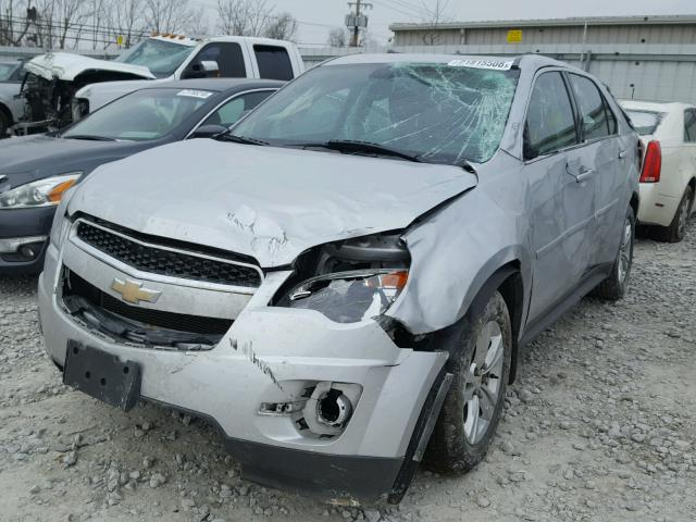 2CNFLCECXB6200881 - 2011 CHEVROLET EQUINOX LS SILVER photo 2
