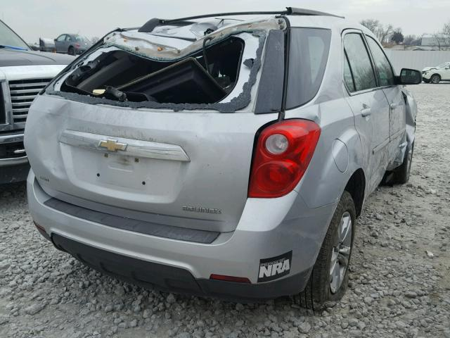 2CNFLCECXB6200881 - 2011 CHEVROLET EQUINOX LS SILVER photo 4