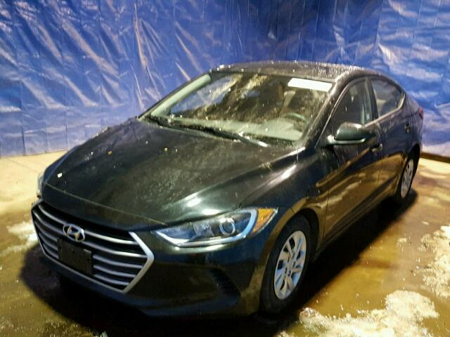 KMHD74LF2HU071723 - 2017 HYUNDAI ELANTRA SE BLACK photo 2