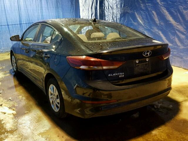 KMHD74LF2HU071723 - 2017 HYUNDAI ELANTRA SE BLACK photo 3
