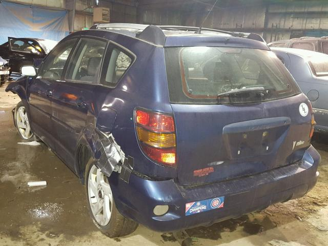 5Y2SL62894Z428558 - 2004 PONTIAC VIBE BLUE photo 3