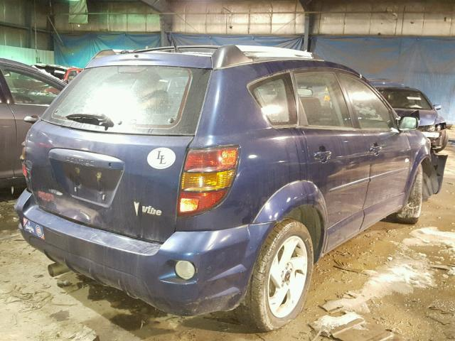 5Y2SL62894Z428558 - 2004 PONTIAC VIBE BLUE photo 4