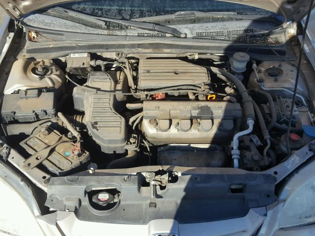 1HGEM22942L023933 - 2002 HONDA CIVIC EX TAN photo 7