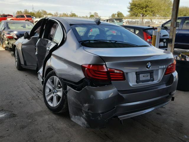 WBAXG5C50DD228994 - 2013 BMW 528 I GRAY photo 3