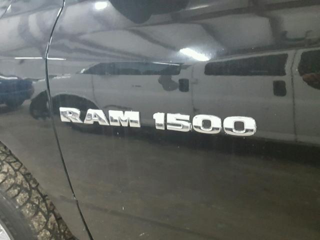 1D7RB1GT3BS547168 - 2011 DODGE RAM 1500 BLACK photo 10