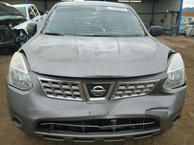 JN8AS5MV7AW113156 - 2010 NISSAN ROGUE S GRAY photo 9