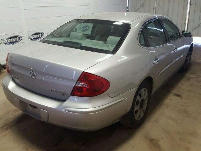 2G4WC582571223259 - 2007 BUICK LACROSSE C SILVER photo 4