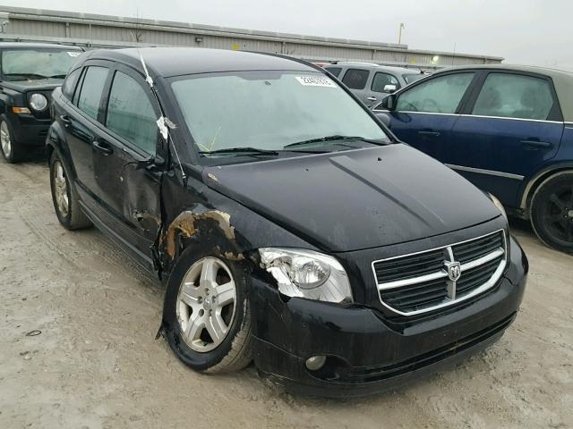 1B3HB48B57D109228 - 2007 DODGE CALIBER SX BLACK photo 1