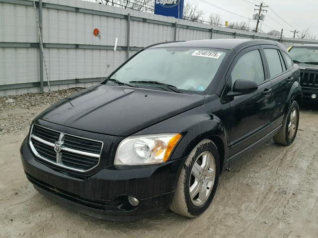 1B3HB48B57D109228 - 2007 DODGE CALIBER SX BLACK photo 2