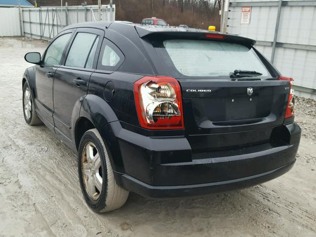 1B3HB48B57D109228 - 2007 DODGE CALIBER SX BLACK photo 3