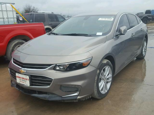1G1ZE5STXHF212810 - 2017 CHEVROLET MALIBU LT GRAY photo 2