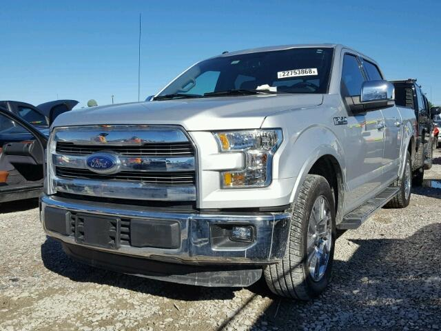 1FTEW1CF9GKF03194 - 2016 FORD F150 SUPER SILVER photo 2