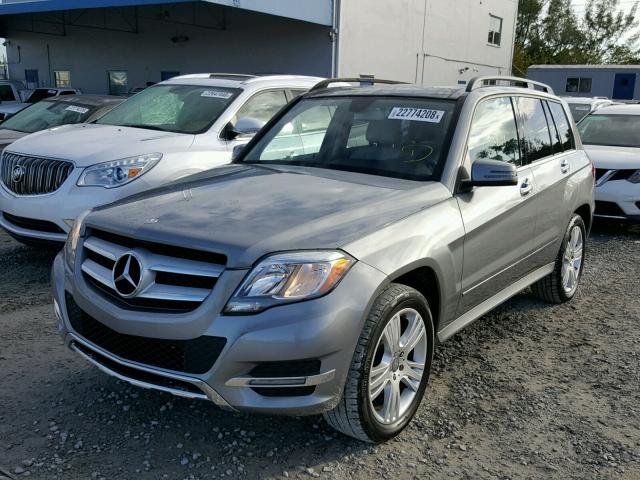 WDCGG5HB9EG258149 - 2014 MERCEDES-BENZ GLK 350 SILVER photo 2