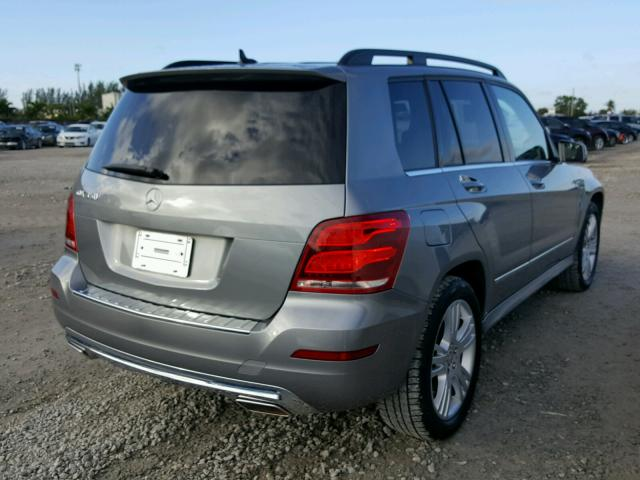 WDCGG5HB9EG258149 - 2014 MERCEDES-BENZ GLK 350 SILVER photo 4