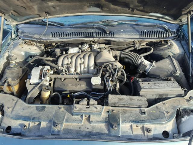 1FALP52U3TA126427 - 1996 FORD TAURUS GL GREEN photo 7