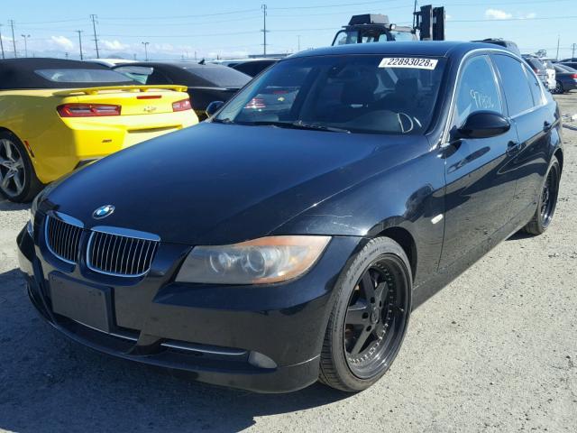 WBAVB73507KY61786 - 2007 BMW 335 I BLACK photo 2