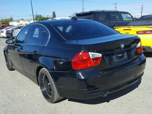 WBAVB73507KY61786 - 2007 BMW 335 I BLACK photo 3