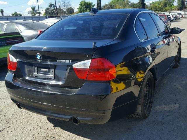 WBAVB73507KY61786 - 2007 BMW 335 I BLACK photo 4