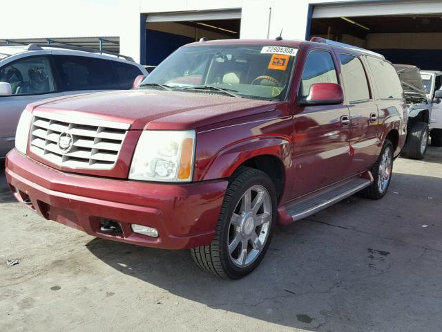 3GYFK66N64G203545 - 2004 CADILLAC ESCALADE E MAROON photo 2