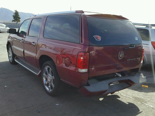3GYFK66N64G203545 - 2004 CADILLAC ESCALADE E MAROON photo 3