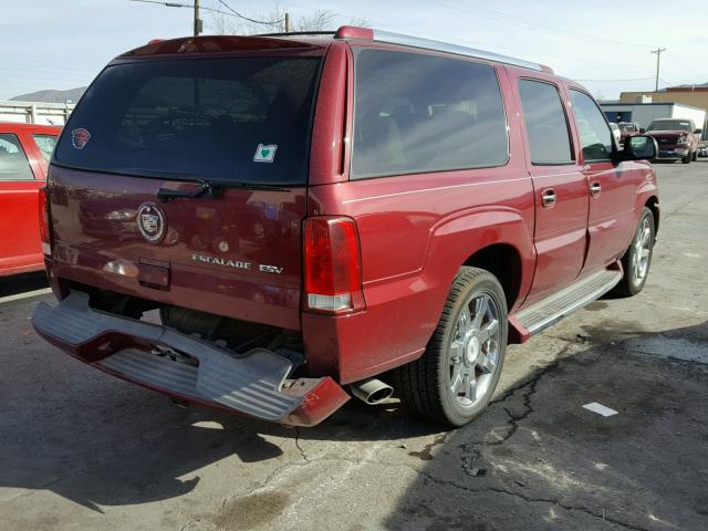 3GYFK66N64G203545 - 2004 CADILLAC ESCALADE E MAROON photo 4