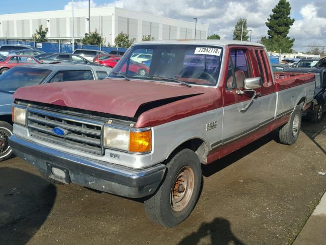 1FTHX25H7KKB35072 - 1989 FORD F250 WHITE photo 2