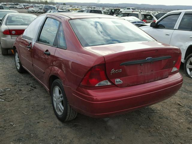 1FAFP34384W179490 - 2004 FORD FOCUS SE C RED photo 3