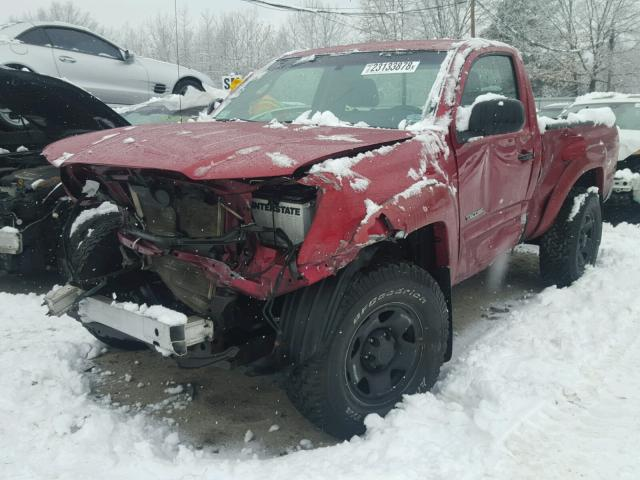 5TEPX42N86Z168388 - 2006 TOYOTA TACOMA RED photo 2