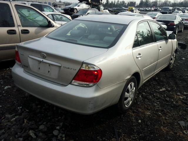4T1BE32K65U424336 - 2005 TOYOTA CAMRY LE SILVER photo 4