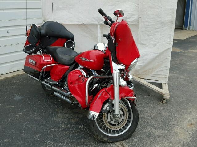 1HD1KEM17AB645943 - 2010 HARLEY-DAVIDSON FLTHTK RED photo 1