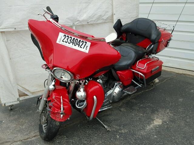 1HD1KEM17AB645943 - 2010 HARLEY-DAVIDSON FLTHTK RED photo 2