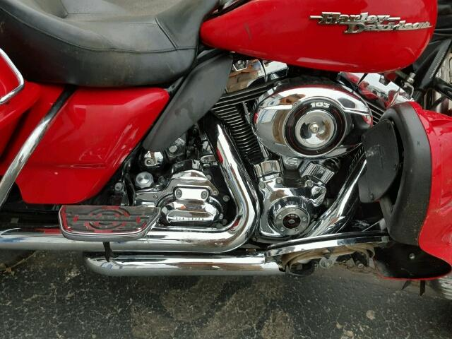 1HD1KEM17AB645943 - 2010 HARLEY-DAVIDSON FLTHTK RED photo 7