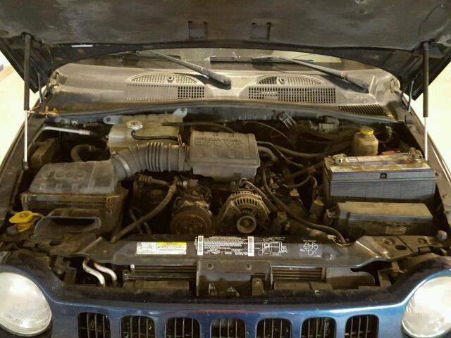 1J4GL58K73W543835 - 2003 JEEP LIBERTY LI BLUE photo 7