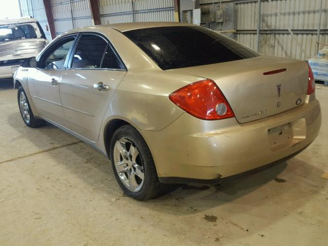 1G2ZG57B084117108 - 2008 PONTIAC G6 BASE GOLD photo 3