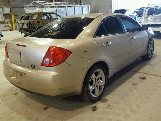 1G2ZG57B084117108 - 2008 PONTIAC G6 BASE GOLD photo 4
