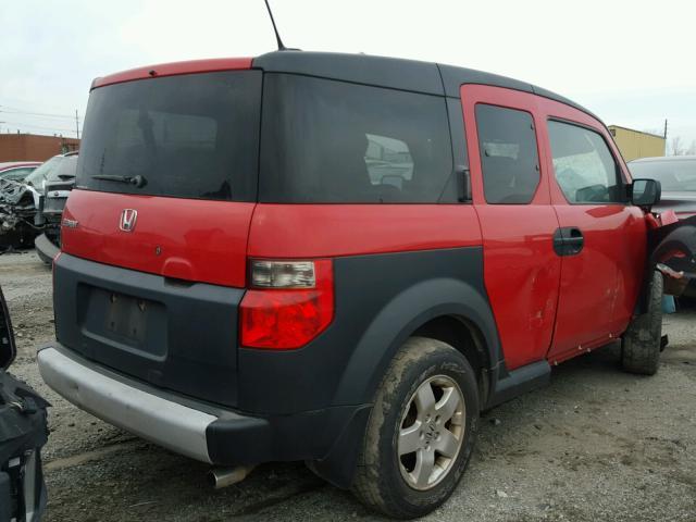 5J6YH28655L004612 - 2005 HONDA ELEMENT EX RED photo 4