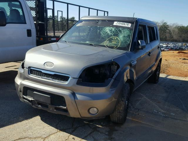 KNDJT2A2XB7243655 - 2011 KIA SOUL GRAY photo 2