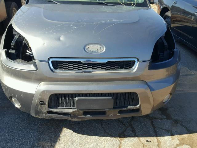 KNDJT2A2XB7243655 - 2011 KIA SOUL GRAY photo 9