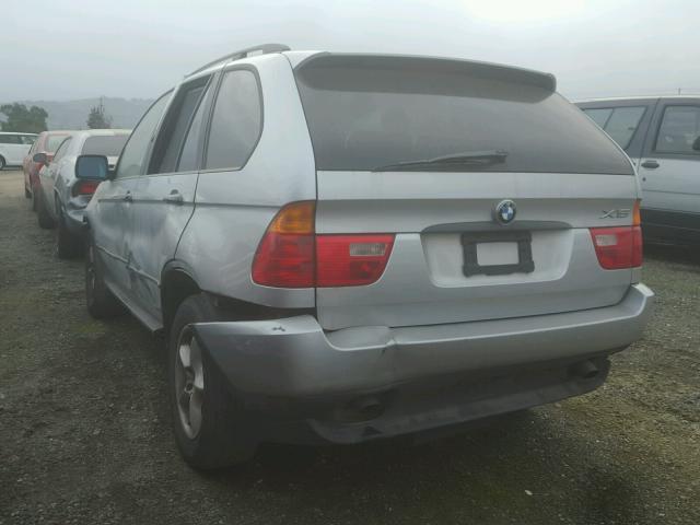 WBAFA53551LM73708 - 2001 BMW X5 3.0I SILVER photo 3