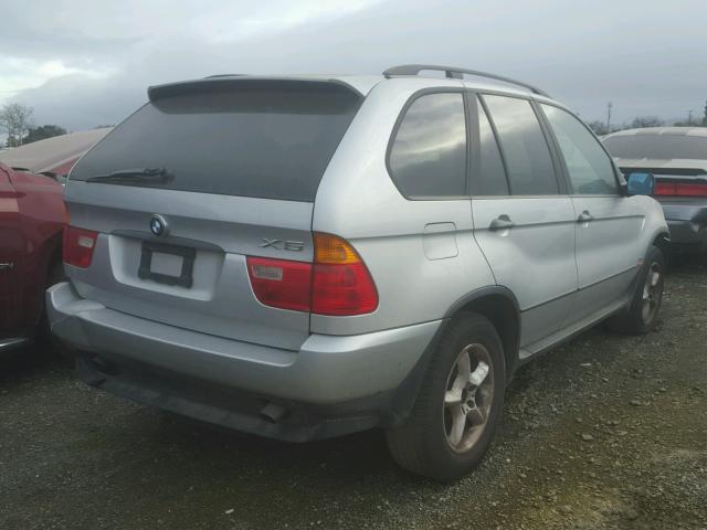 WBAFA53551LM73708 - 2001 BMW X5 3.0I SILVER photo 4