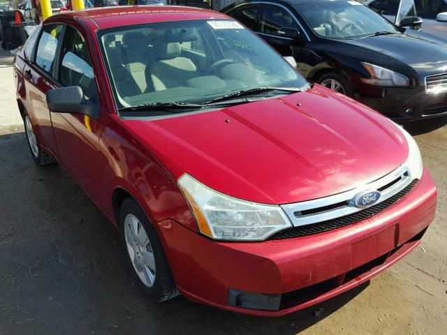 1FAHP3EN0BW101078 - 2011 FORD FOCUS S RED photo 1