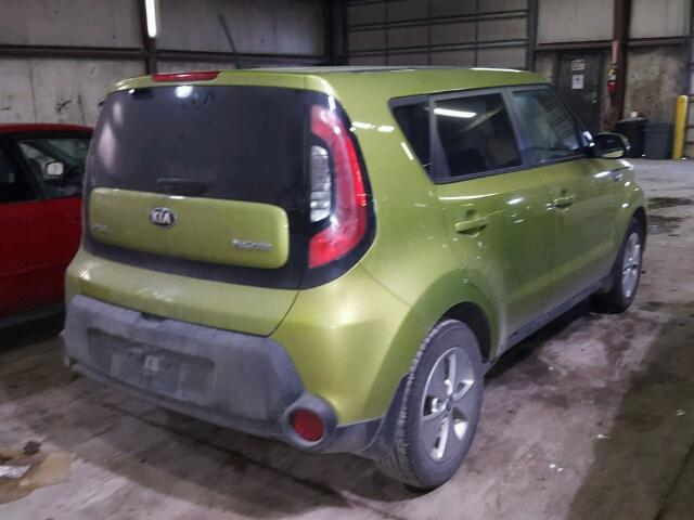KNDJN2A22E7746319   2014 KIA SOUL GREEN Photo 4