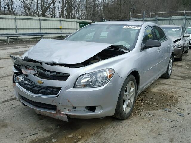 1G1ZA5E16BF161366 - 2011 CHEVROLET MALIBU LS SILVER photo 2