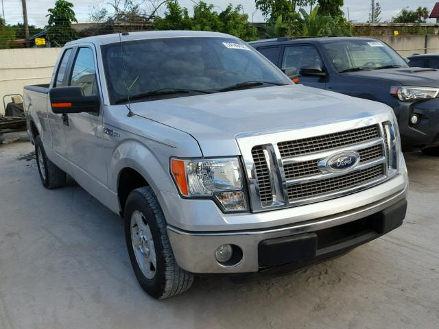 1FTEX1CM8BFB66031 - 2011 FORD F150 SUPER SILVER photo 1