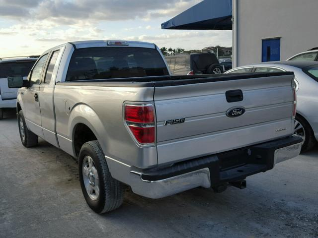 1FTEX1CM8BFB66031 - 2011 FORD F150 SUPER SILVER photo 3
